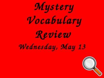 Mystery Vocabulary Unit