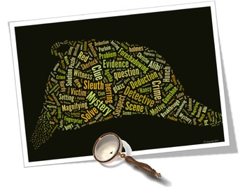 Mystery Vocabulary image for Classroom Decoration Poster or Sign
