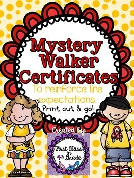 Mystery Walker Certificates (Behavior Management Tool)