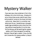 Mystery Walker Line-Walking Good Behavior Kit