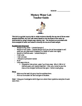 Mystery Water Lab