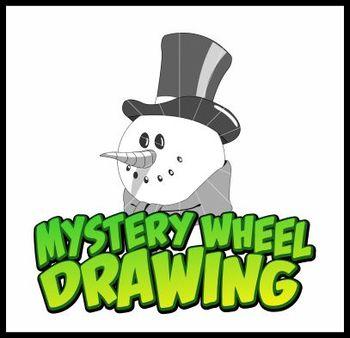 Mystery Wheel Drawing Art Project - Snowman