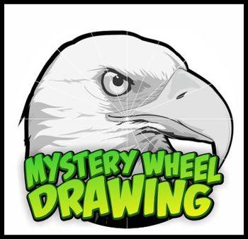 Mystery Wheel Drawing Art Worksheet - Eagle