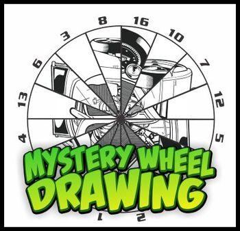 Mystery Wheel Drawing Art Worksheet - Hot Rod