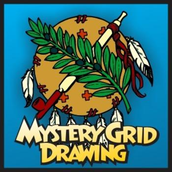 Mystery Grid Drawing - Oklahoma Osage Shield