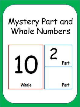 Mystery Whole and Parts Math Center