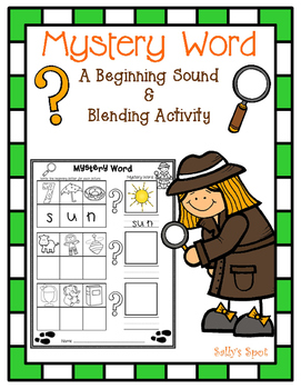 Mystery Word - A Beginning Sound & Blending Activity