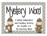 Mystery Word Activty (Word Building)