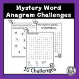 Anagram Word Work Activities