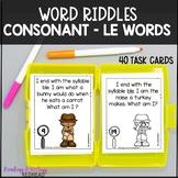 Mystery Word: Consonant-le