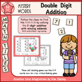 Mystery Word Double Digit Addition (Missing Addends)