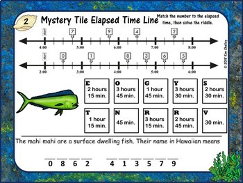 Mystery Word Elapsed Time LINE  (Sea)