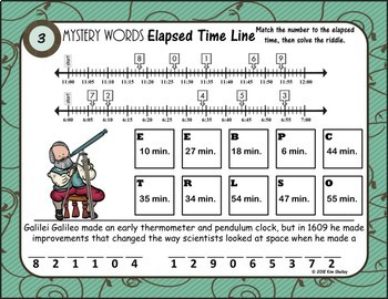Mystery Word Elapsed Time Line (Inventor)