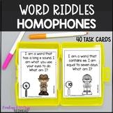 Mystery Word: Homophones