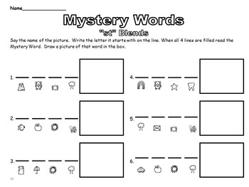 Mystery Word Phonological Awareness CCVC and CVCC