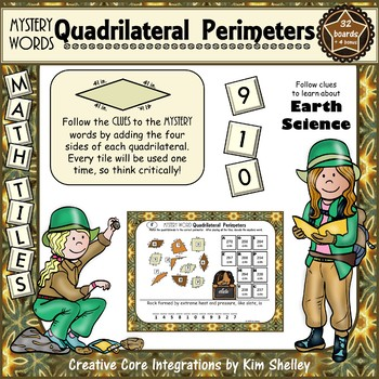 Mystery Word Quadrilateral Perimeters