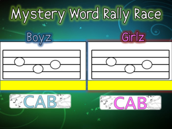Mystery Word Rally Race!