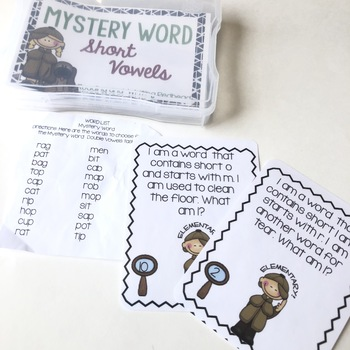 Mystery Word: Short Vowel Sounds