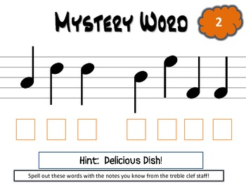 Mystery Word! - Student Printables
