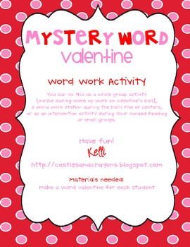 Mystery Word {Valentine} {FREE!}