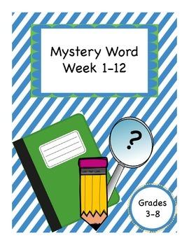 Mystery Word Weeks 1-12