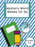 Mystery Word Weeks 25-36