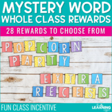 Whole Class Rewards | Mystery Word