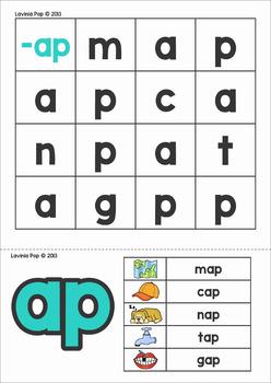 CVC Word Families Mystery Word SAMPLER