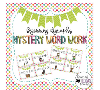 Mystery Word Work Task Cards - Beginning Digraphs
