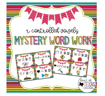 Mystery Word Work Task Cards - R Controlled Vowels
