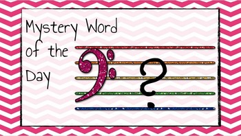 Mystery Word of the Day! (Bass Clef)