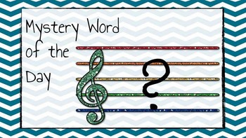 Mystery Word of the Day! (Treble Clef)