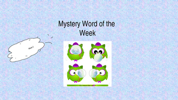 Mystery Word of the Week 2