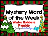 Mystery Word of the Week Winter Holiday Free to Boost Vocabulary