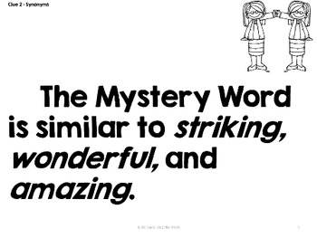 Mystery Word of the Week 1