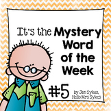 Mystery Word of the Week 5