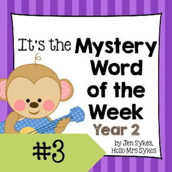 Mystery Word of the Week 3, Year 2