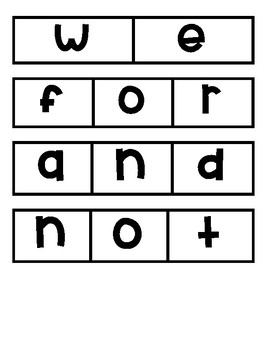 Mystery Word puzzles pre-primer list