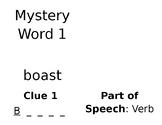 Mystery Word vocabulary grades  3-6