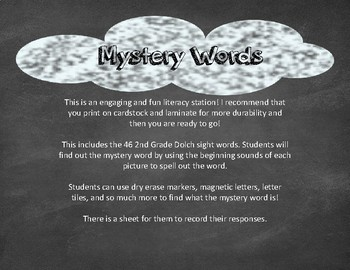 Mystery Words 2nd Grade