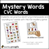 Mystery Words - CVC short vowel word work fun!