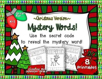 Christmas Mystery Words