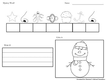 Mystery Words! Cracking the Phonics Code (Winter Words)