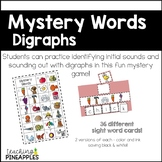 Mystery Words - Digraphs word work fun!