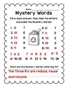 Mystery Words {Earth Day Edition} Freebie