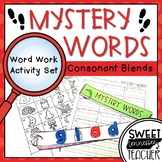 Mystery Words Word Work Activity Pack: Consonant Blends