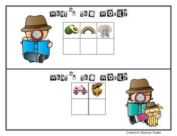 Mystery Words Kindergarten