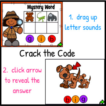 Mystery Words Set 3 CVC Promethean Flipchart
