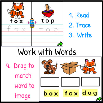 Mystery Words Set 4 CVC Promethean Flipchart