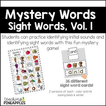 Mystery Words - sight word / word work fun!